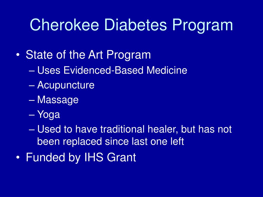 Cherokee Diabetes Program