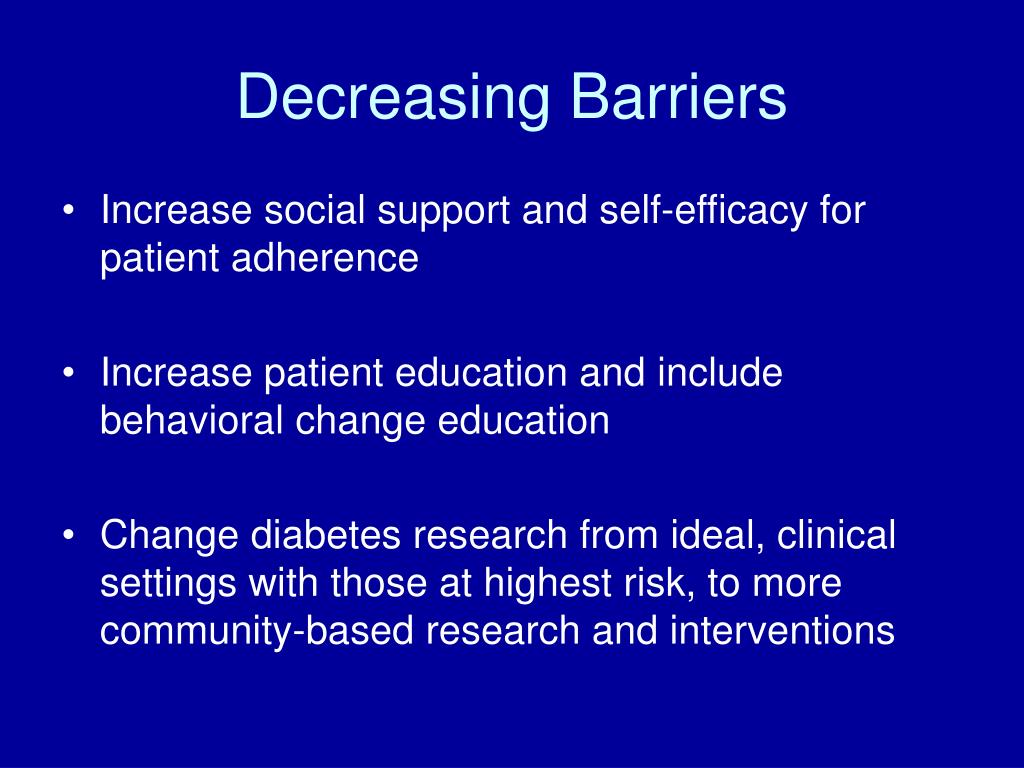 Decreasing Barriers