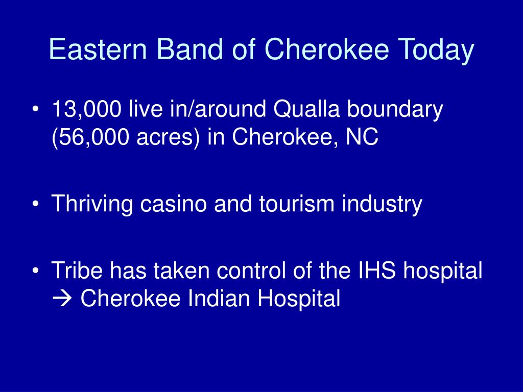Eastern Band of Cherokee Today