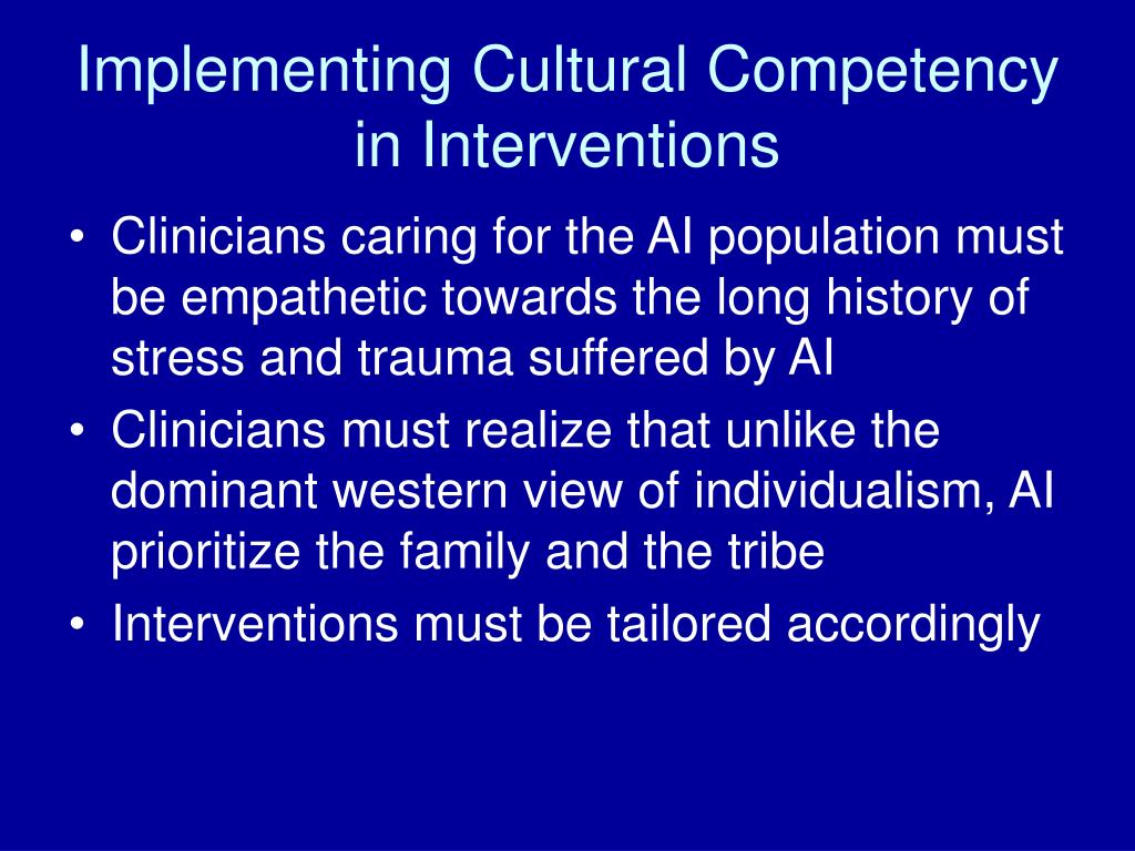 Implementing Cultural Competency in Interventions