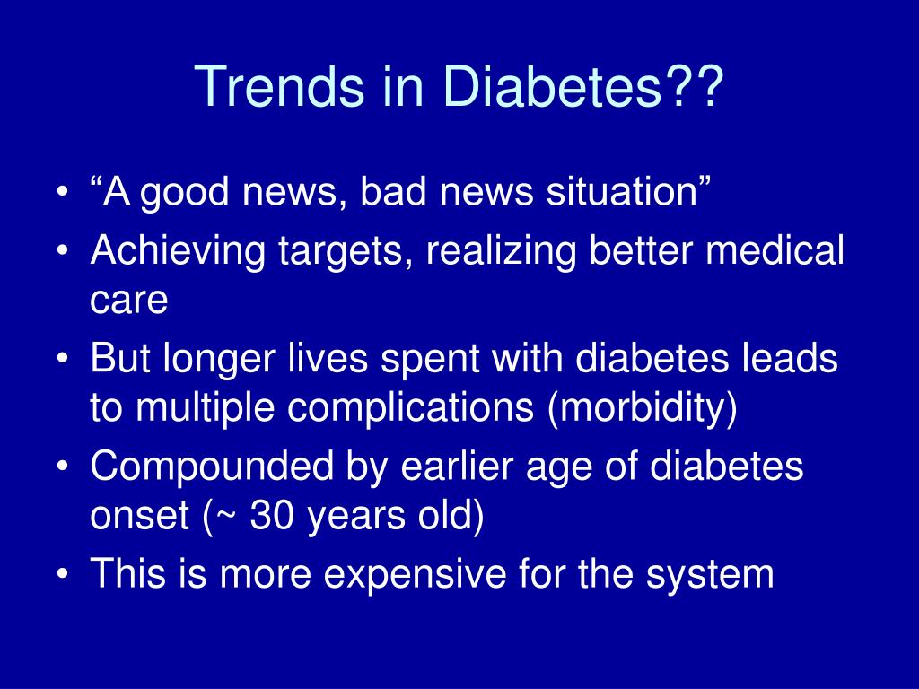 Trends in Diabetes??