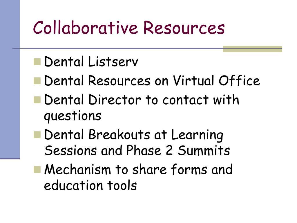 Collaborative Resources