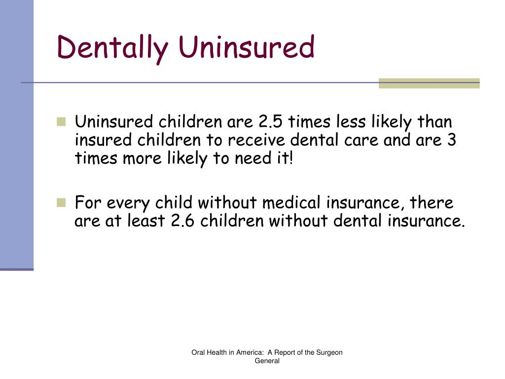 Dentally Uninsured