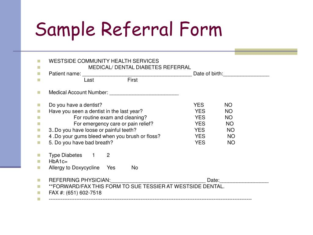 Sample Referral Form