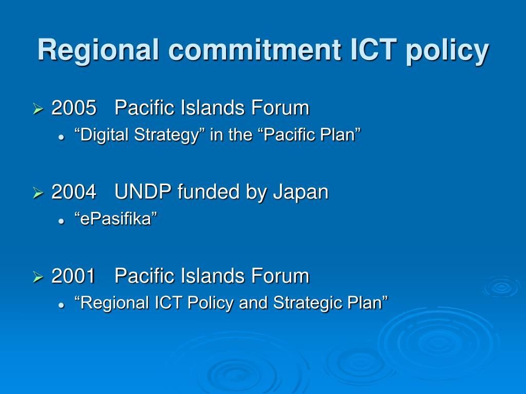 Regional commitment ICT policy