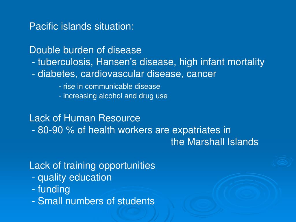 Pacific islands situation: