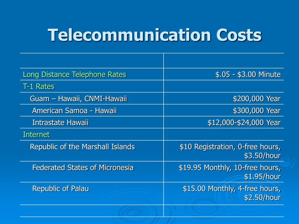 Telecommunication Costs