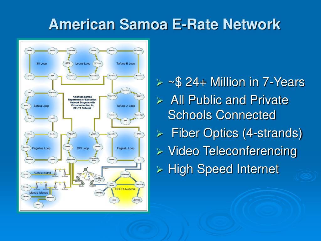 American Samoa E-Rate Network