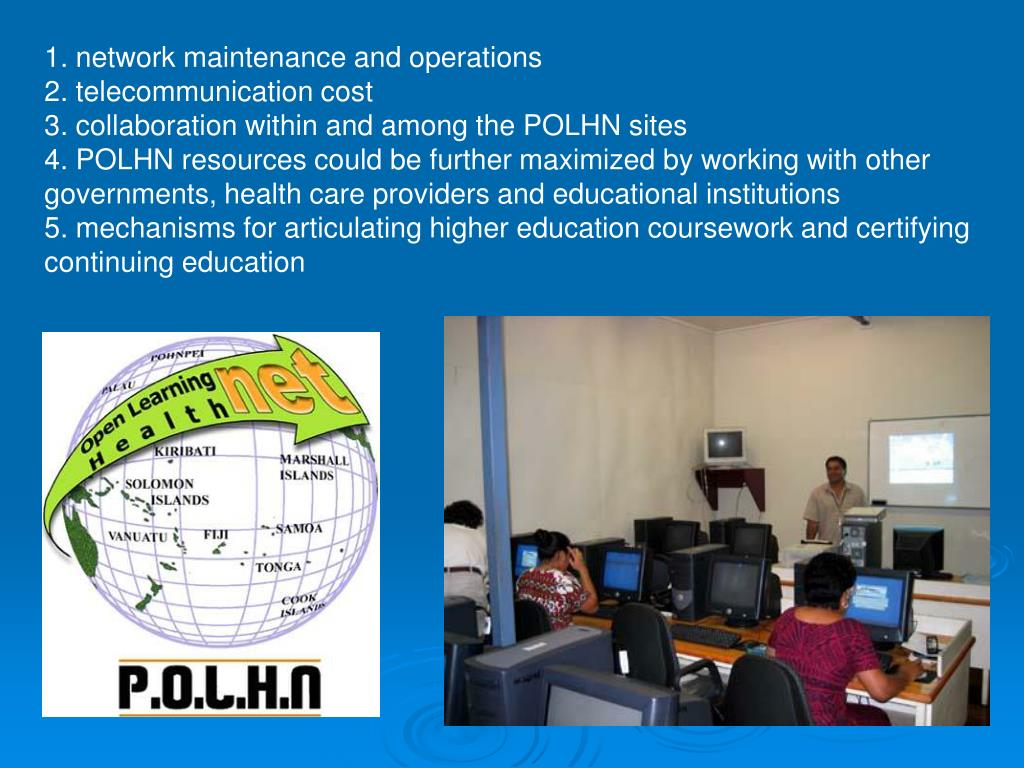 1. network maintenance and operations