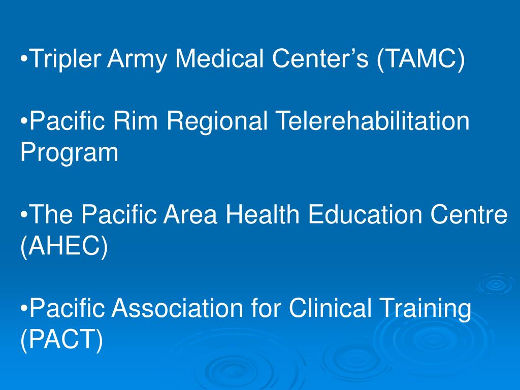 Tripler Army Medical Center's (TAMC)