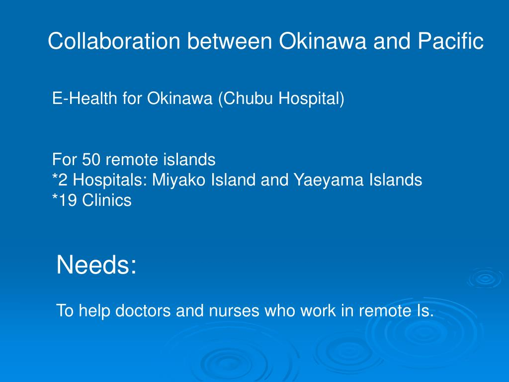 Collaboration between Okinawa and Pacific