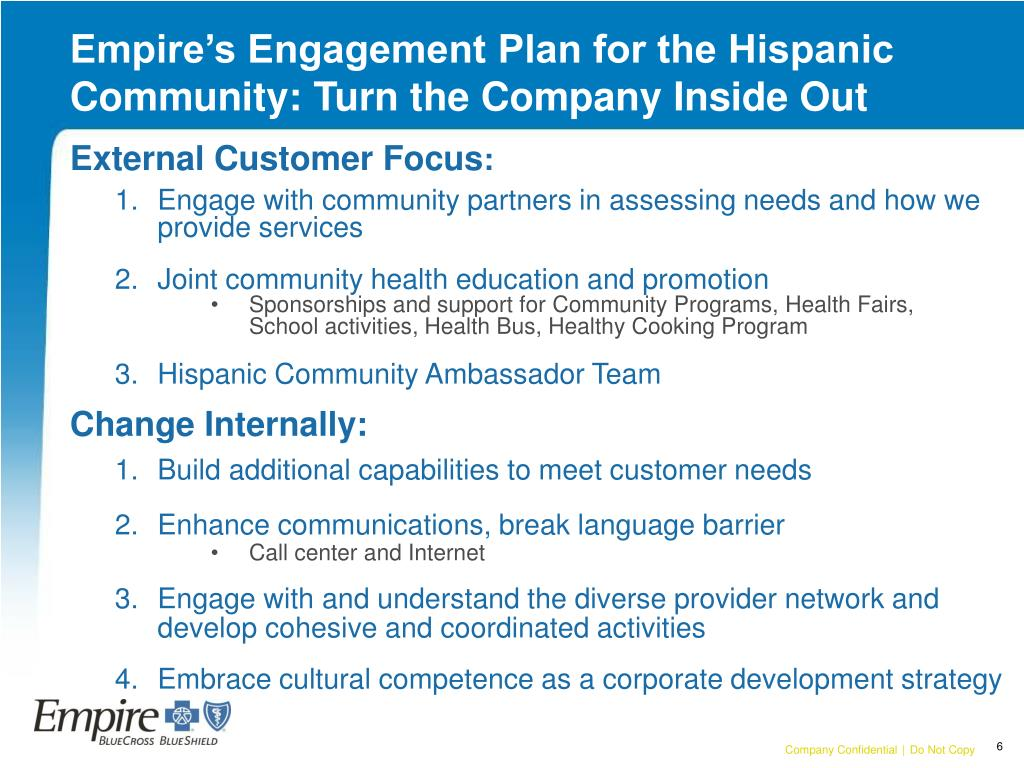 Empire's Engagement Plan for the Hispanic Community: Turn the Company Inside Out