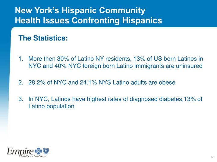 New york s hispanic community health issues confronting hispanics
