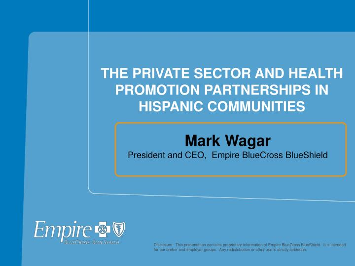 The private sector and health promotion partnerships in hispanic communities l.jpg