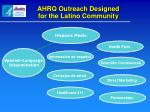 ahrq outreach designed for the latino community