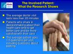 the involved patient what the research shows