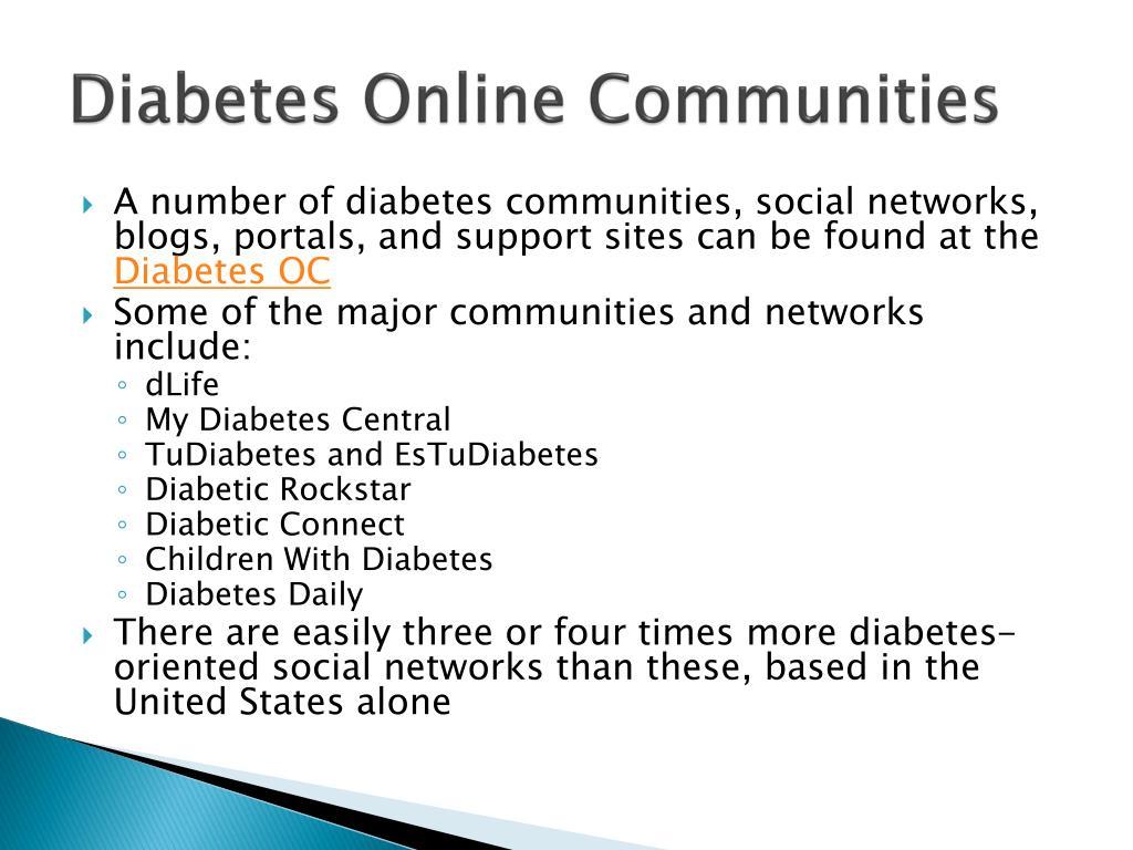 Diabetes Online Communities