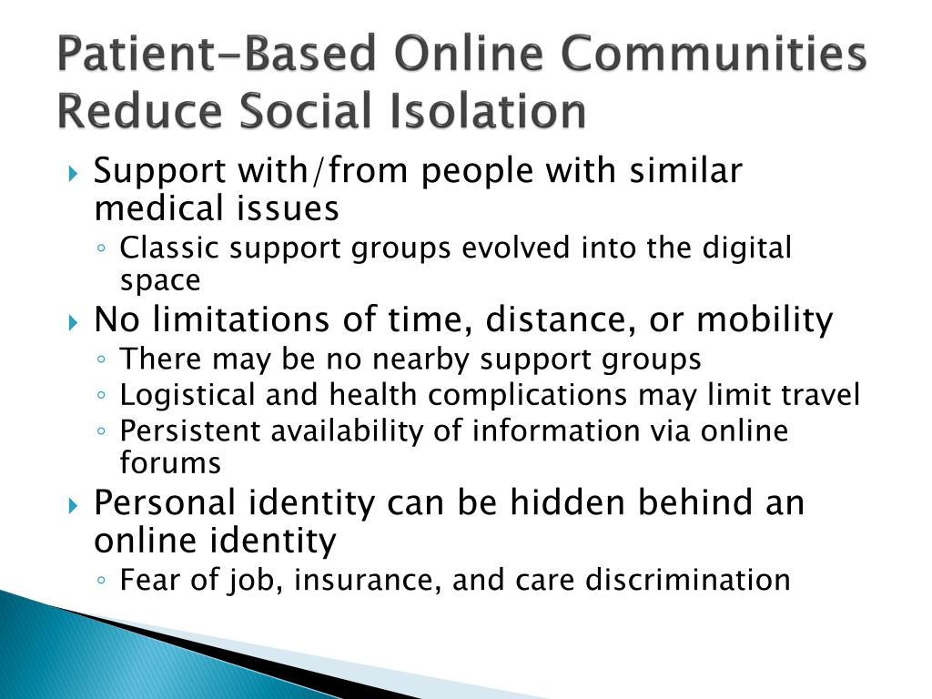 Patient-Based Online Communities