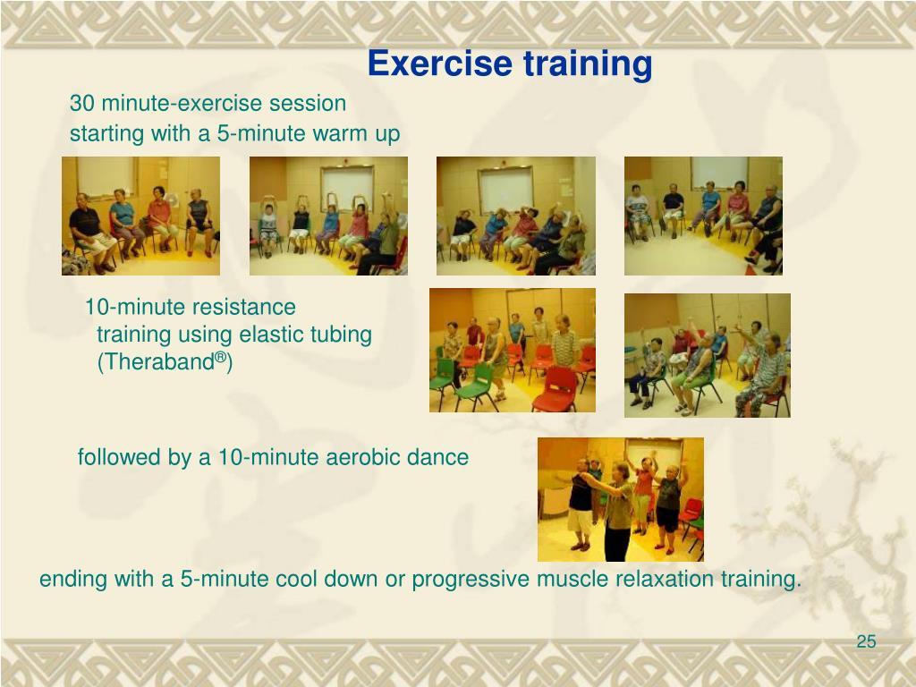 Exercise training