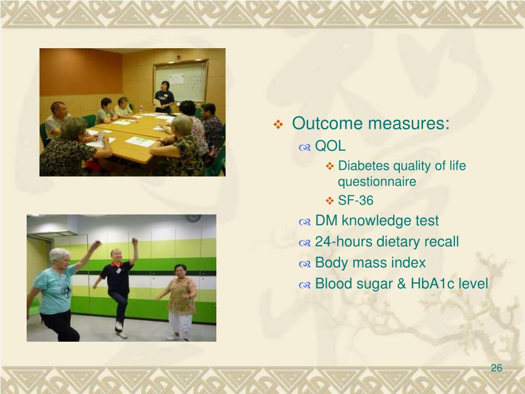 Outcome measures: