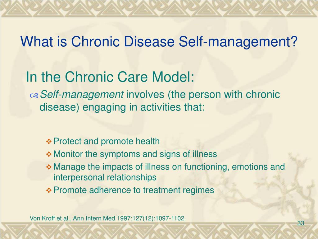 What is Chronic Disease Self-management?