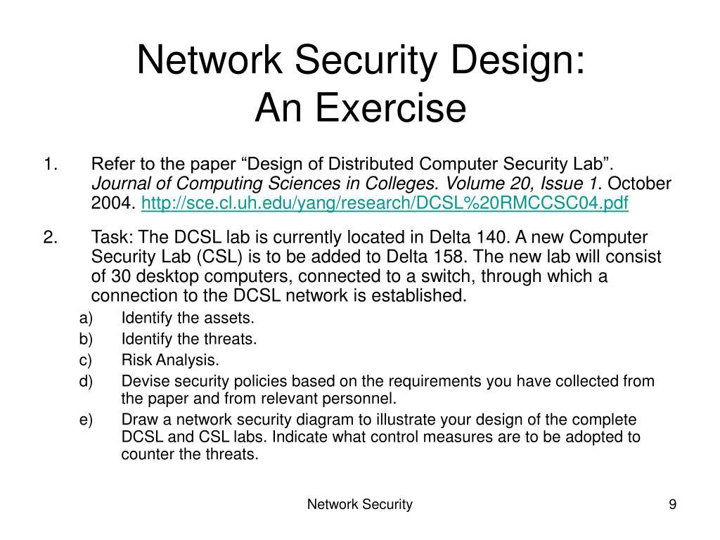 Network Security Design: