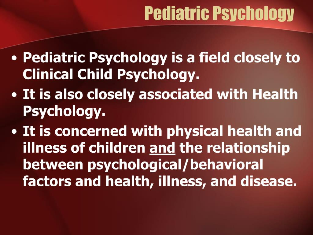 Pediatric Psychology