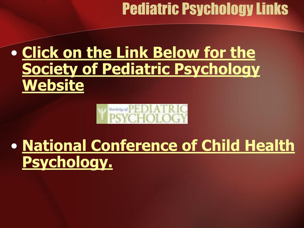 Pediatric Psychology Links