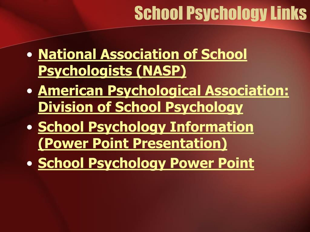 School Psychology Links