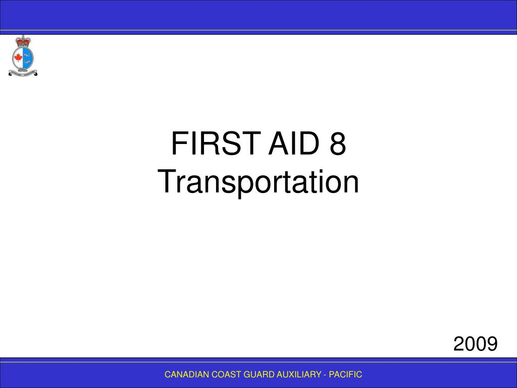 FIRST AID 8