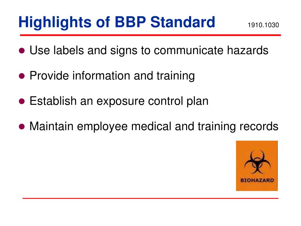 Highlights of BBP Standard