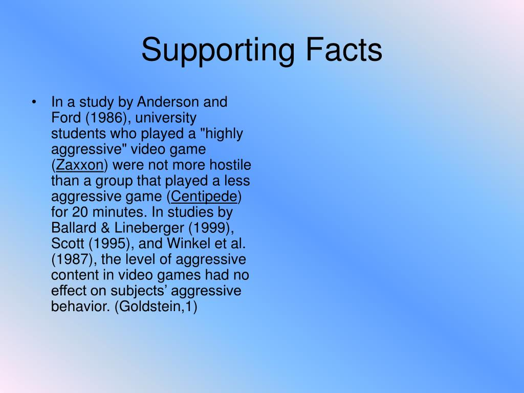 Supporting Facts