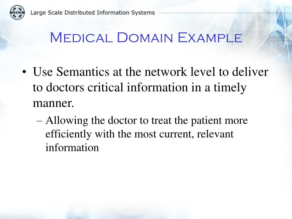 Medical Domain Example