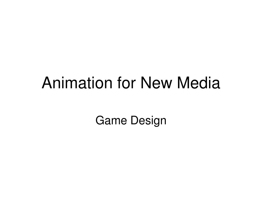 Animation for New Media
