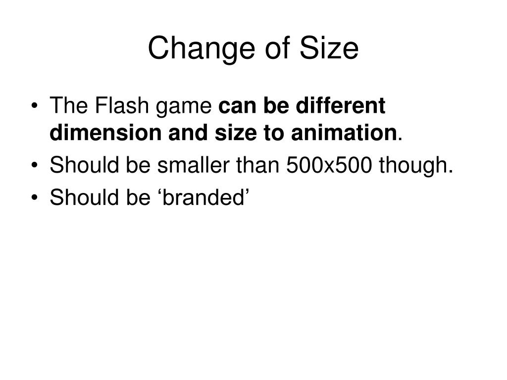 Change of Size