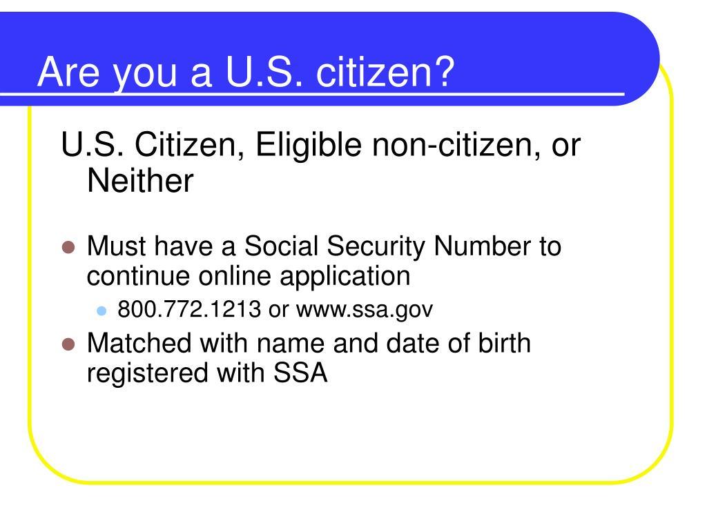 Are you a U.S. citizen?