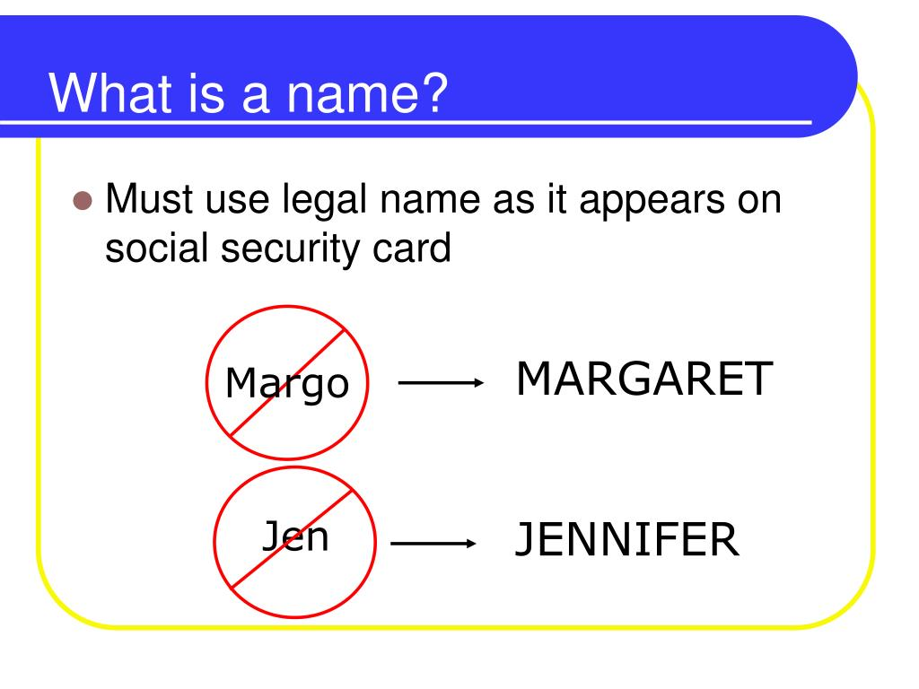 What is a name?