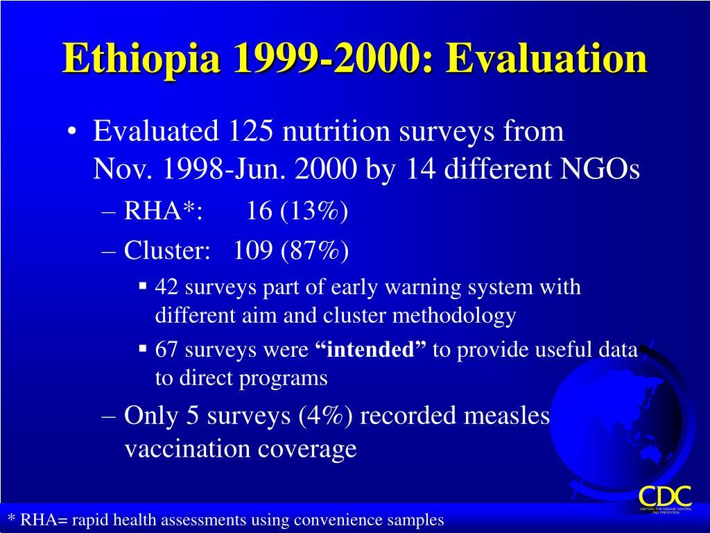 Ethiopia 1999-2000: Evaluation