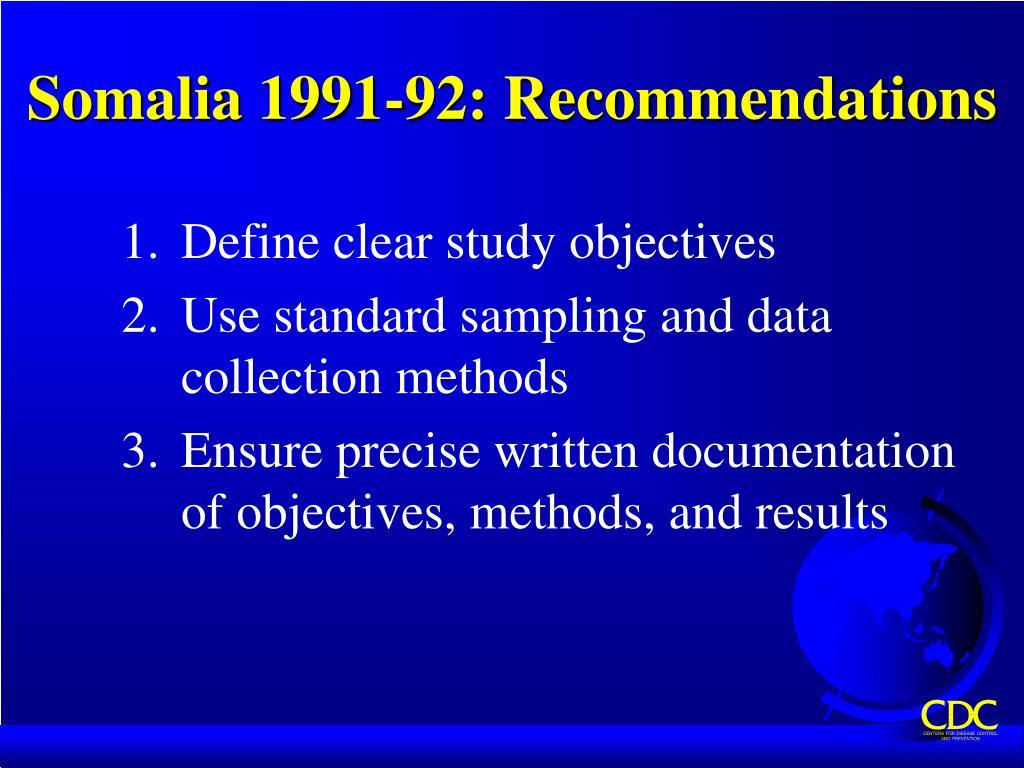 Somalia 1991-92: Recommendations