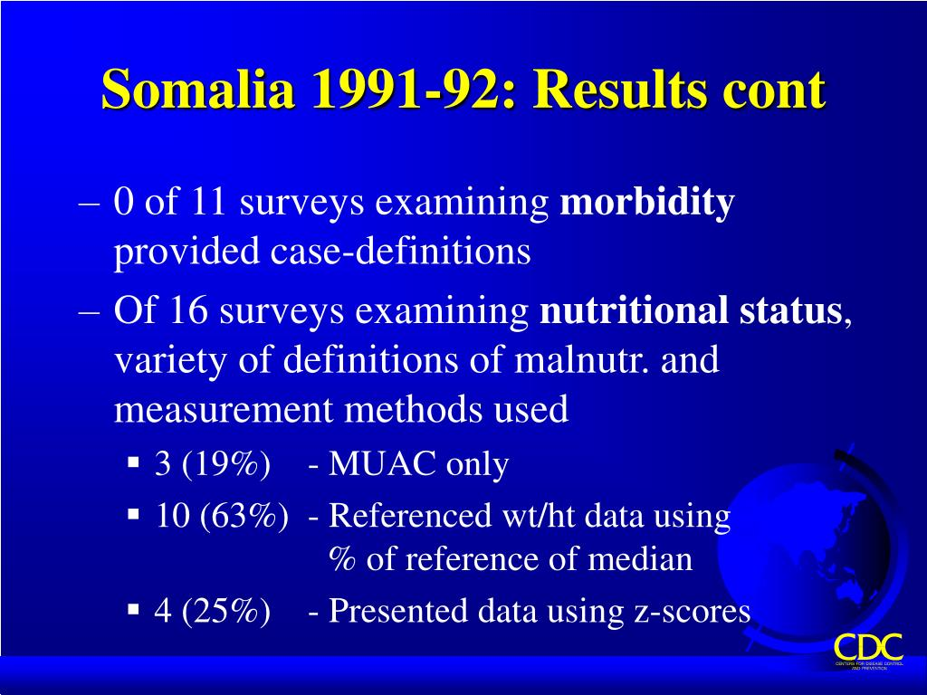 Somalia 1991-92: Results cont