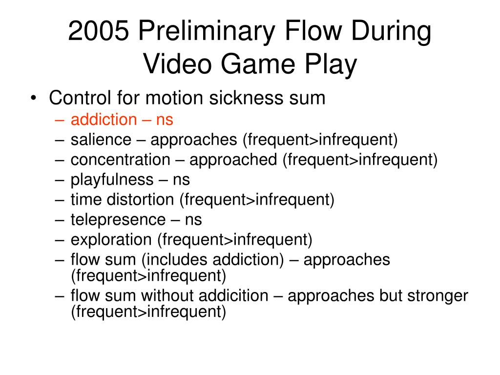 2005 Preliminary Flow During Video Game Play