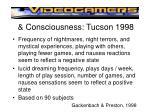 consciousness tucson 1998