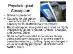 psychological absorption