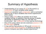 summary of hypothesis