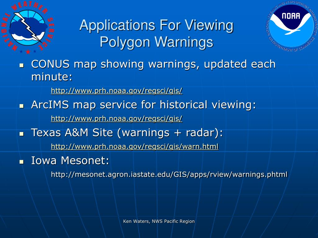 Applications For Viewing Polygon Warnings