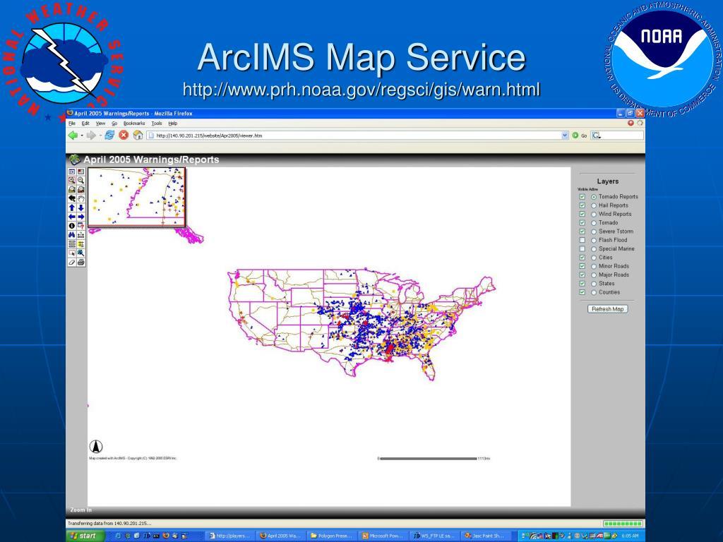 ArcIMS Map Service