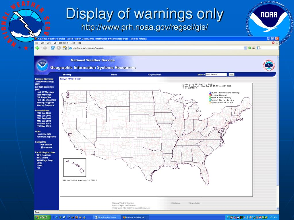 Display of warnings only