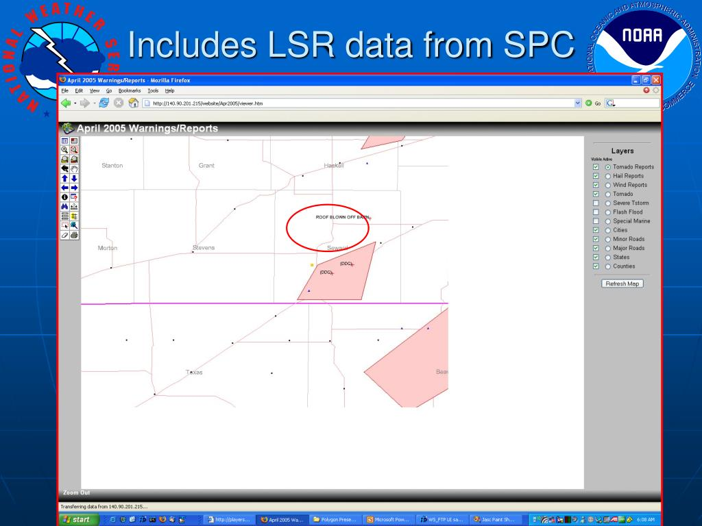 Includes LSR data from SPC