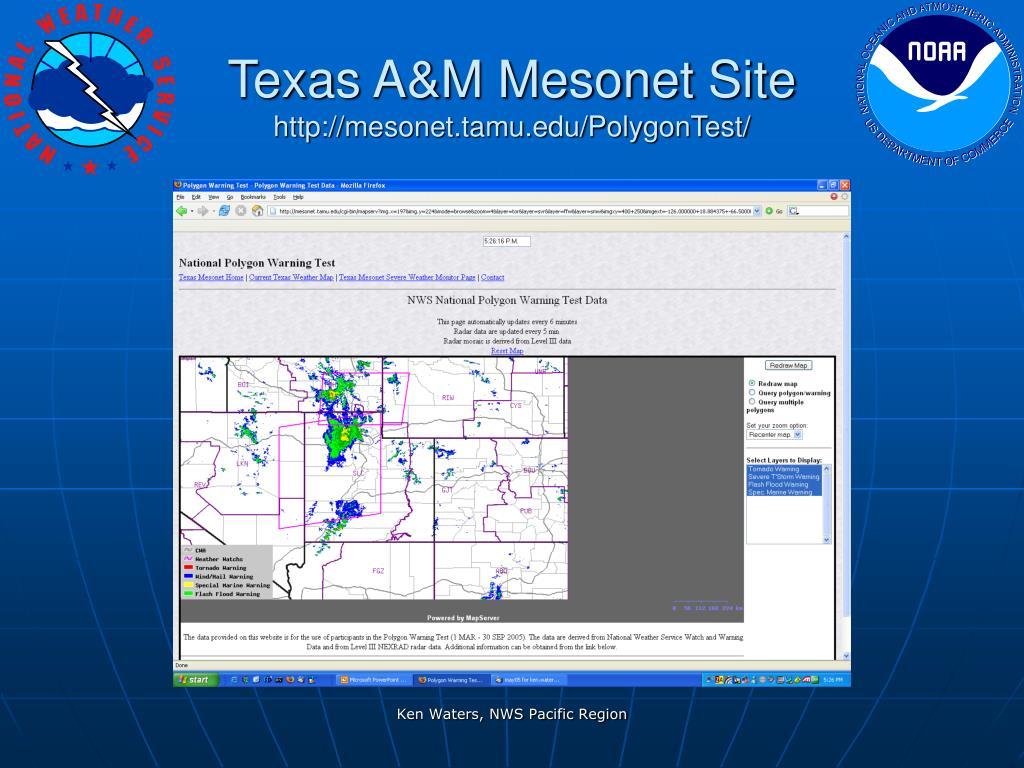 Texas A&M Mesonet Site