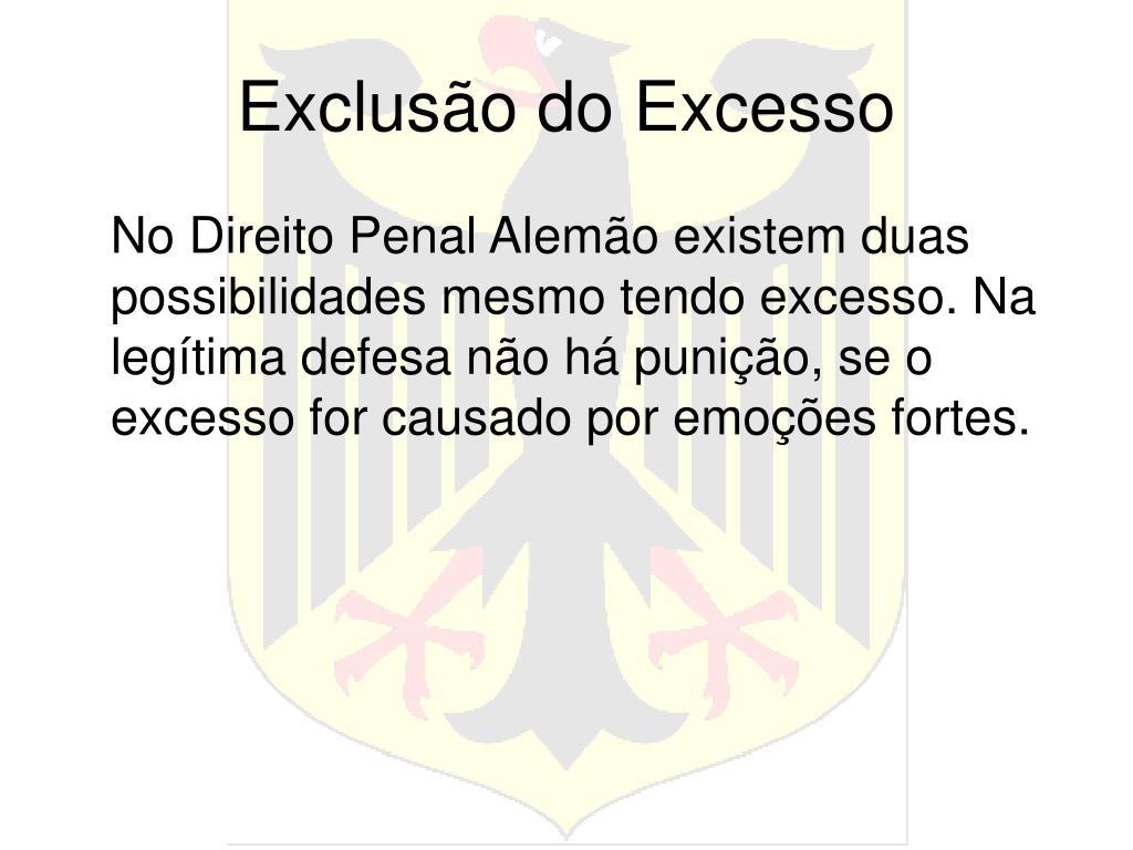 Exclusão do Excesso